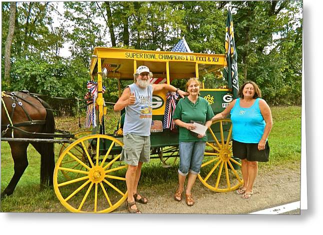 Horse And Buggy Greeting Cards - Packer Bob and Entourage Greeting Card by Randy Rosenberger