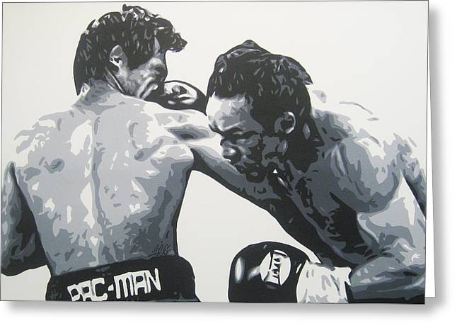 Pacman Paintings Greeting Cards - Pacman Marquez Greeting Card by Geo Thomson