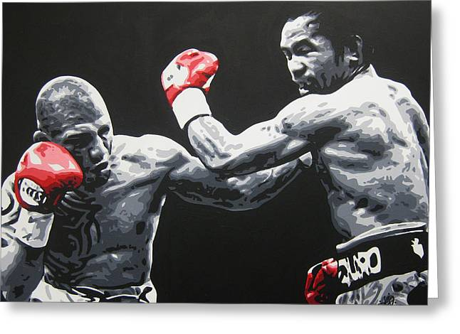 Pacman Paintings Greeting Cards - PACMAN v COTTO Greeting Card by Geo Thomson