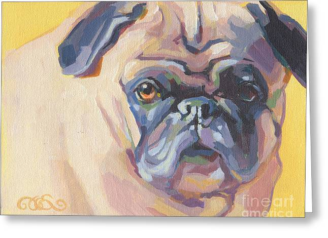 Pet Greeting Cards - Paco Pug Greeting Card by Kimberly Santini