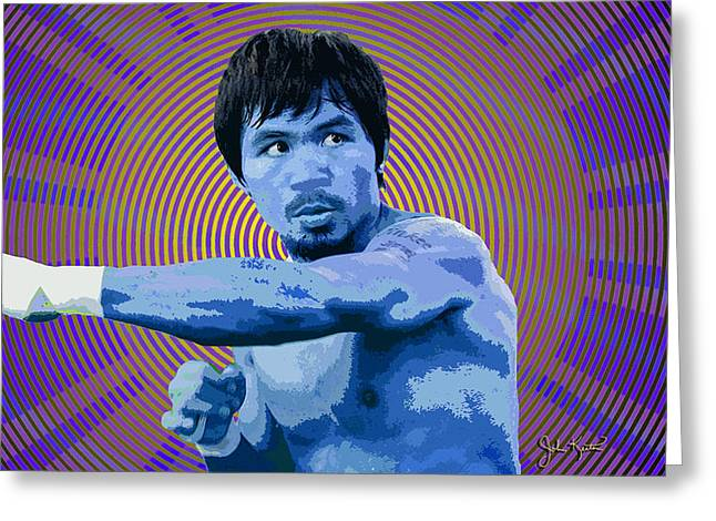 Manny Greeting Cards - Pacquio 2 Greeting Card by John Keaton