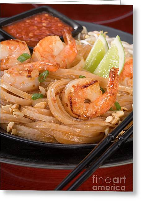Reliable Greeting Cards - Pad Thai Greeting Card by Iris Richardson