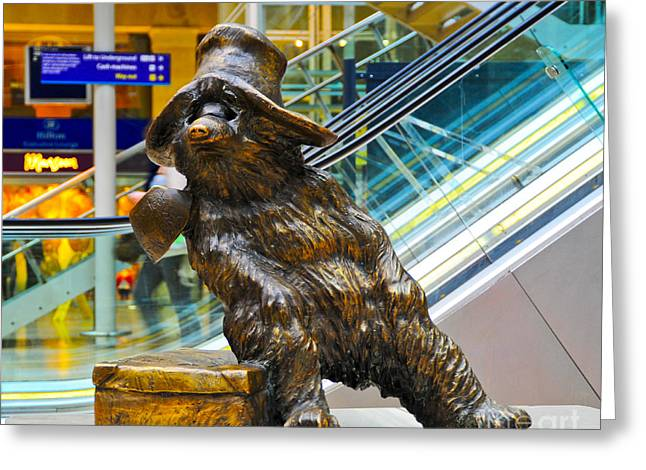 Urban Legend Greeting Cards - Paddington Bear Greeting Card by Donald Davis