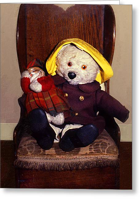 Children Story Book Digital Greeting Cards - Paddington Bear Greeting Card by Ron Regalado