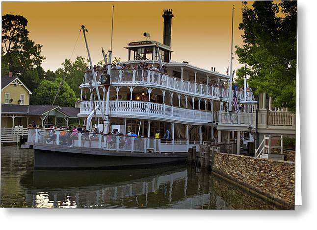 Paddle Boat Walt Disney World Greeting Card by Thomas Woolworth