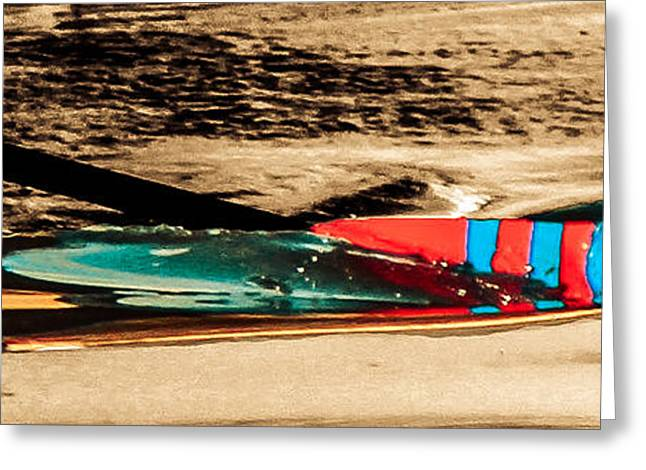 Kelly Greeting Cards - Paddle In The Water Greeting Card by Tom Gari Gallery-Three-Photography