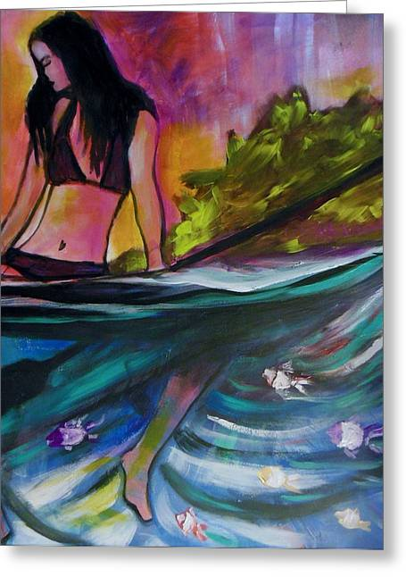 Paddle Love Greeting Card by Kimberly Dawn Clayton