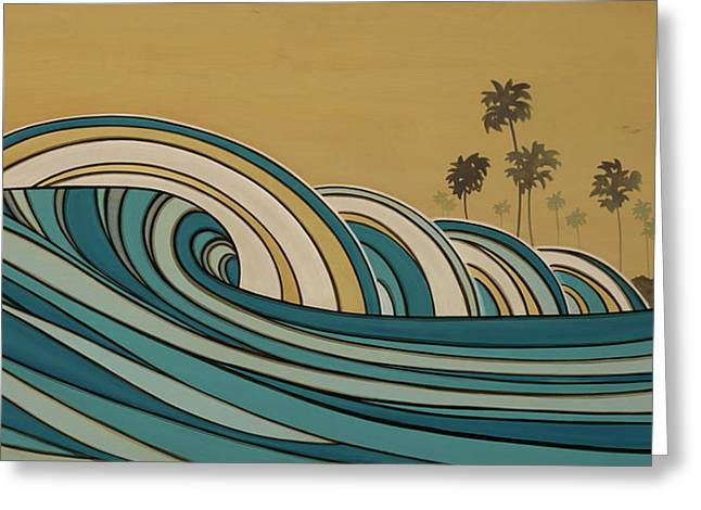 Paddle Out Greeting Card by Joe Vickers
