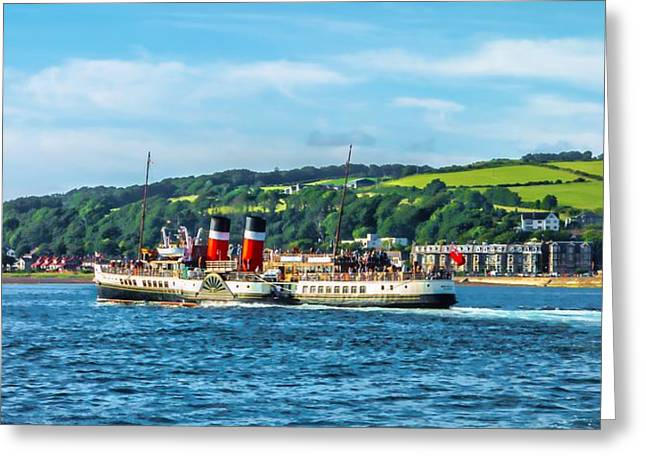 Print; Paddle Steamer Greeting Cards - Paddle Steamer The Waverley Greeting Card by Tylie Duff