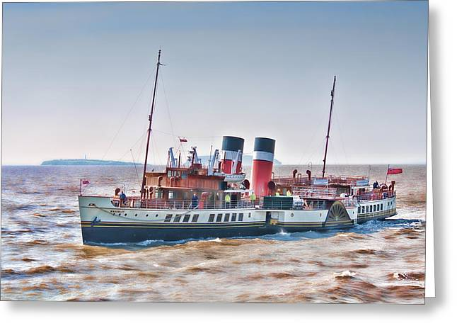 Paddle Steamer Waverley Greeting Card by Steve Purnell