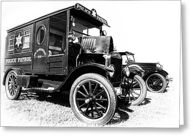 Paddy Wagon Greeting Card by Larry Helms