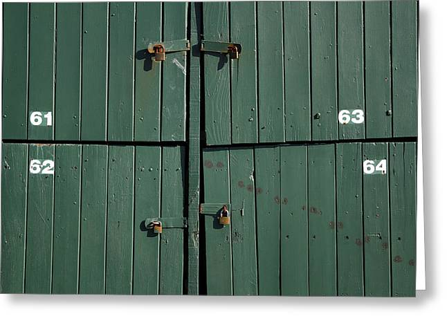 Safeguard Greeting Cards - Padlocks Greeting Card by Les Cunliffe