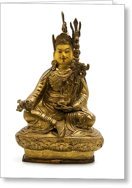 White Photographs Greeting Cards - Padmasambhava Greeting Card by Fabrizio Troiani