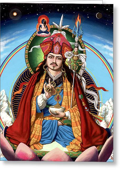 Recently Sold -  - Tibetan Buddhism Greeting Cards - Padmasambhava Greeting Card by Jonathan Weber