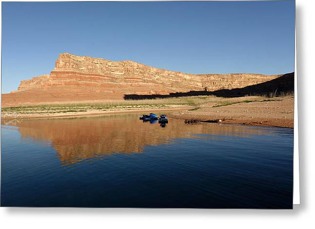 Desert Lake Greeting Cards - Padre Bay Lake Powell Greeting Card by Julie Niemela