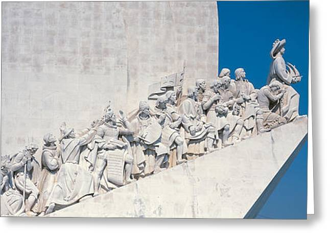 Incline Greeting Cards - Padro Dos Descobrimentos Lisbon Portugal Greeting Card by Panoramic Images