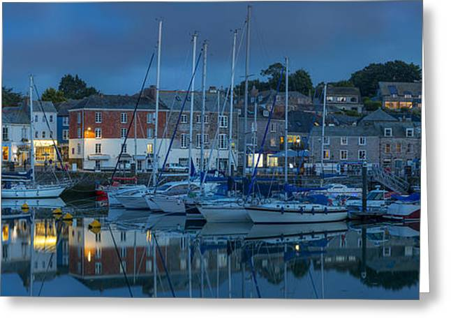 European Restaurant Greeting Cards - Padstow Pano Greeting Card by Brian Jannsen