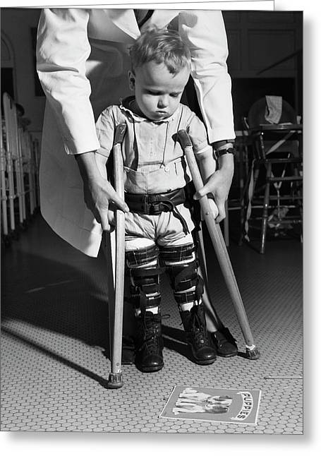 Paediatric Physical Therapy Greeting Card by Library Of Congress