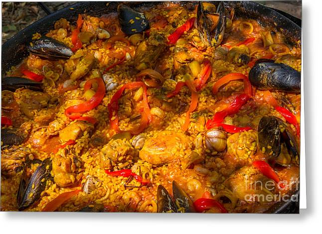 Paella Greeting Cards - Paella Greeting Card by Paul Fearn