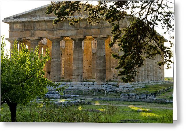 Hera Greeting Cards - Paestum, Hera, Ruins, Campania, Italy Greeting Card by Charles Bowman