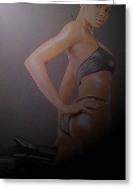 Swimsuit Mixed Media Greeting Cards - Page Greeting Card by Erica  Darknell