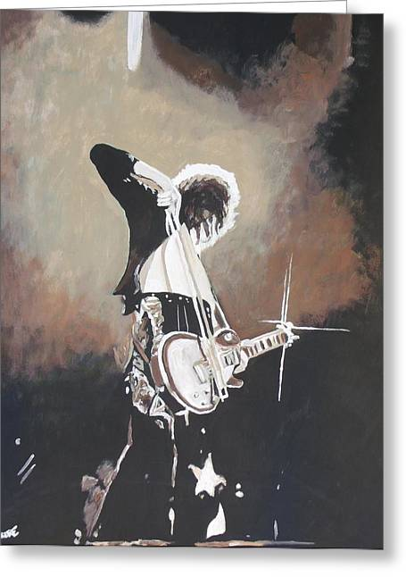 Robert Plant Paintings Greeting Cards - Page Greeting Card by Jeremy Moore