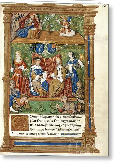 Royal Wedding Greeting Cards - Pageant At The Palais Royal Greeting Card by British Library