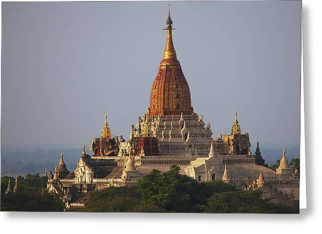 Pagoda In Bagan, Upper Burma Myanmar Greeting Card by Chris Caldicott