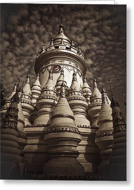 Division Greeting Cards - Pagoda in Myanmar Greeting Card by Maria Heyens