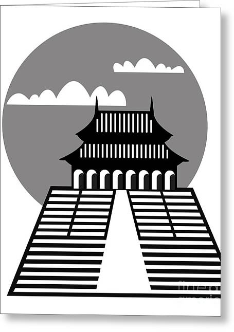 General Concept Digital Greeting Cards - Pagoda Greeting Card by Michal Boubin