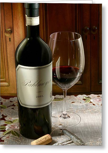 Cabernet Greeting Cards - Pahlmeyer Greeting Card by Jon Neidert