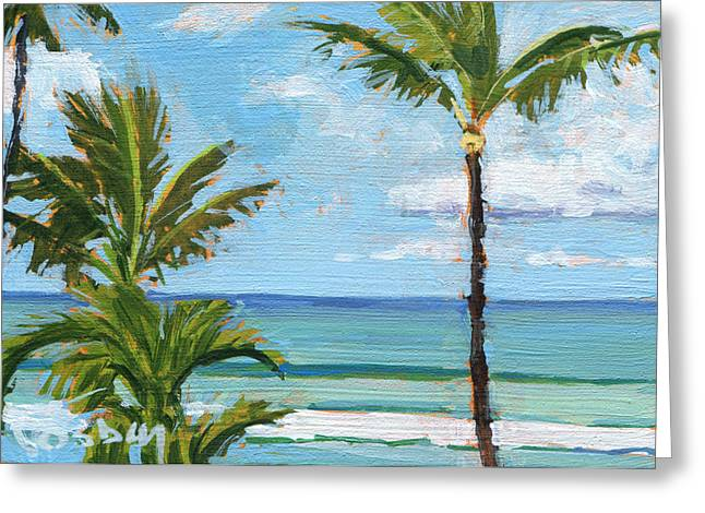 Paia Palms 2 Greeting Card by Stacy Vosberg