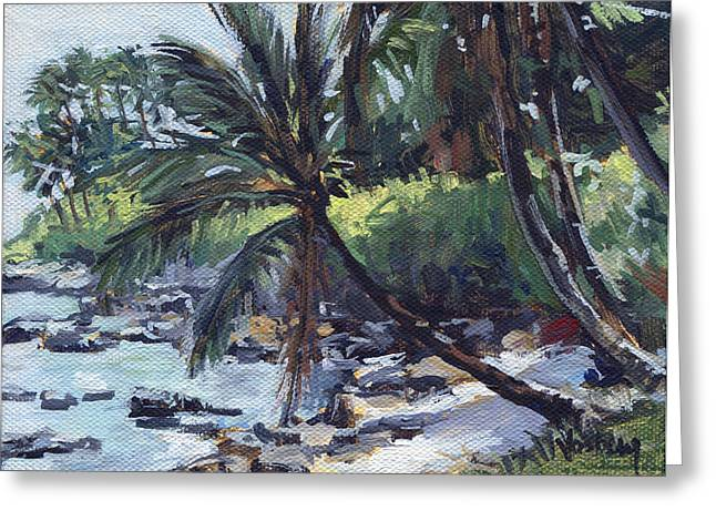 Paia Palms Greeting Card by Stacy Vosberg