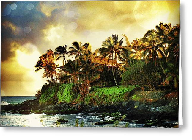 Stacy Vosberg Greeting Cards - Paia Sunrise Greeting Card by Stacy Vosberg