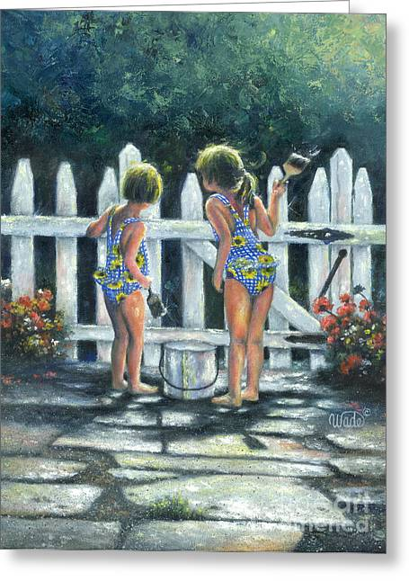 Vickie Wade Paintings Greeting Cards - Pail Partners Greeting Card by Vickie Wade