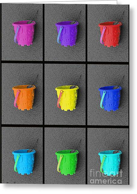 Sand Castles Greeting Cards - Pails of Sand Greeting Card by Nina Silver