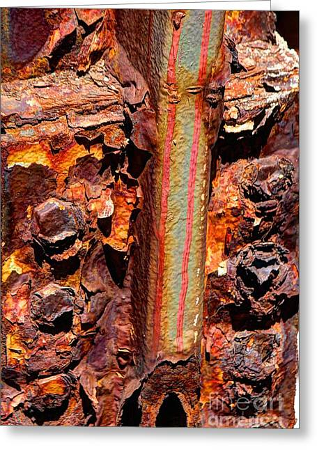 Paint And Rust 26 Greeting Card by Jim Wright
