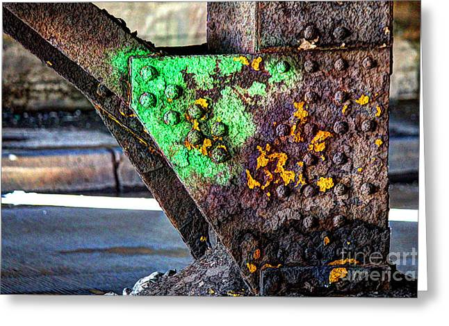 Paint And Rust 32 Greeting Card by Jim Wright