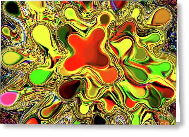 Creating Greeting Cards - Paint Ball Color Explosion Greeting Card by Andee Design