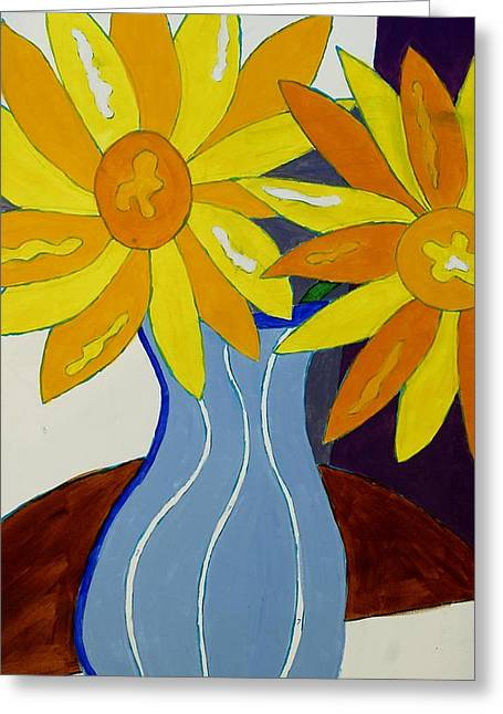 Paint By Number Greeting Card by Lola Connelly