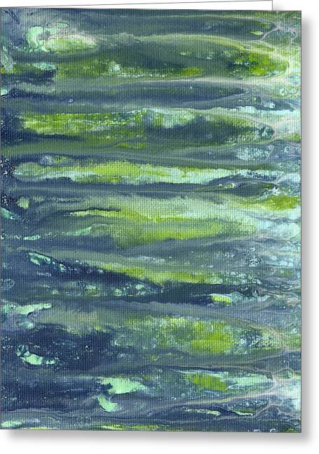 Lisa Noneman Greeting Cards - Paint Drips 2 Greeting Card by Lisa Noneman