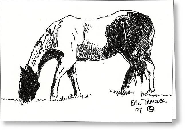 Pen And Ink Drawing Photographs Greeting Cards - Paint Greeting Card by Eric Tressler