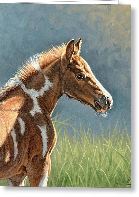 Colts Greeting Cards - Paint Filly Greeting Card by Paul Krapf