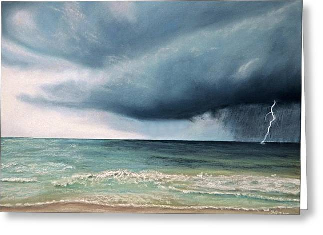 Lightning Pastels Greeting Cards - Paint it Black Greeting Card by Irini  Adler