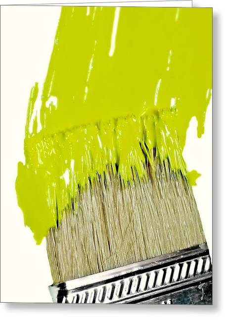 Paint It Greeting Cards - Paint It Green Greeting Card by Diana Angstadt