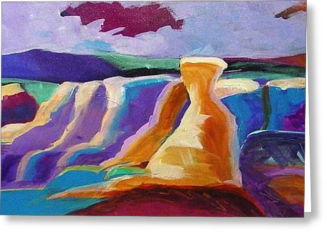 Lanscape Paintings Greeting Cards - Paint Mines Symphony Greeting Card by Tracy Miller