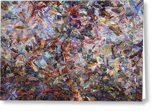 Abstract Expressionism Greeting Cards - Paint number 42 Greeting Card by James W Johnson