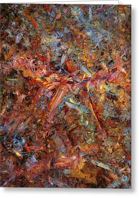 James Paintings Greeting Cards - Paint number 43 Greeting Card by James W Johnson