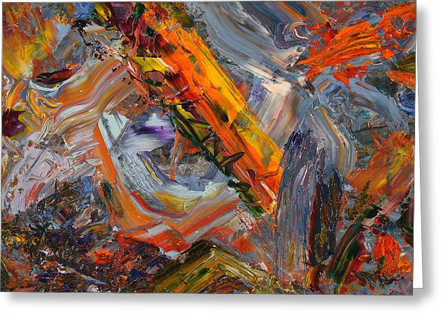 Best Sellers -  - Abstract Expressionist Greeting Cards - Paint Number 44 Greeting Card by James W Johnson