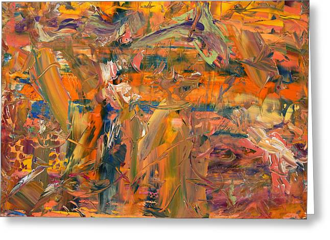 Best Sellers -  - Abstract Expressionist Greeting Cards - Paint Number 45 Greeting Card by James W Johnson